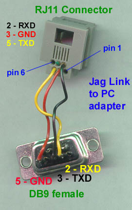 rj11 4 pin connector diagram rj11 to db9 pinout - atari jaguar - atariage forums #6